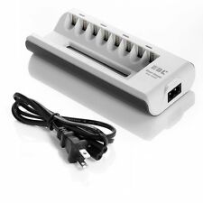 8 Slot/Bay Rapid Battery Charger For Ni-MH/Ni-CD AA AAA Rechargeable Batteries