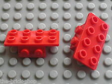 2 x LEGO red bracket ref 93274 / Set 66395 8486 8679 8678 8484 6913 6864 4440