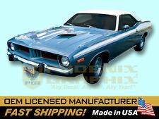 1973 1974 Plymouth Barracuda 'Cuda Decals & Upper Body Stripes Kit