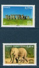 SERVICE 154-155 NEUF * * GOMME ORIGINALE - TTB STONEHENGE - ELEPHANT D'AFRIQUE