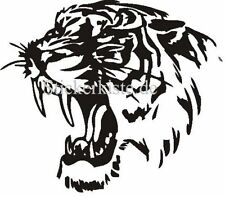2 Aufkleber Tigerkopf IPAD Auto Sticker Decal 17 Cm Tuning Tiger
