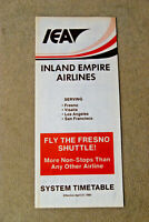 Inland Empire Airlines Timetable - April 27, 1980