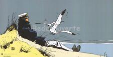 Affiche Hugo Pratt Corto Maltese Marin tu chériras toujours la mer 50x100 cm
