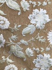 NATURAL GOLD FLORAL CHENILLE UPHOLSTERY FABRIC (654 in.) Sold By The Yard