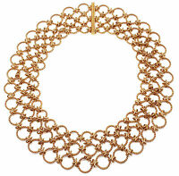 Authentic! Verdura Lace 18k Yellow Gold Necklace