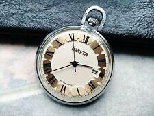 Vintage Pocket Watch Raketa 2614 H Soviet Mechanical Pocket Watch Collectable