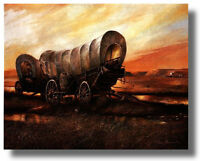 Old West Covered Wagons 16x20 Ruane Manning Wall Art Print Picture sku#16-8015
