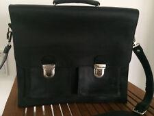 NEU Herren Leder Schultertasche Umhängetasche Tasche schwarz Aktentasche