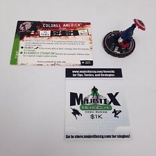Heroclix Supernova set Colonel America (Zombie) #221 Chase figure w/card!