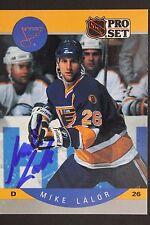 Mike Lalor St Louis Blues Autograph 1990 Pro Set #264 Hockey Card JSA 16H