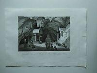 1845 Zuccagni-Orlandini Interno della Chiesa S. Rosalia Monte Pellegrino Palermo