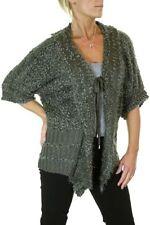Tie Hip Length 3/4 Sleeve Wool Jumpers & Cardigans for Women