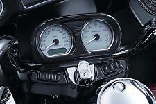 Kuryakyn Black Tri Line Speedo Tach Gauge Cluster Accent Harley Road Glide 6928