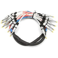 """Seismic Audio NEW 8 CHANNEL 1/4"""" TRS SNAKE CABLE -5' -Pro Audio Patch"""