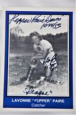 Lavone Pepper Paire Davis Autographed Baseball Card Hof 88 A League Of Their Own