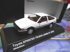 TOYOTA Corolla AE86 Sprinter geschl.S Trueno GT Apex Coupe weiss Kyosho SP 1:43