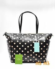 Kate Spade Adaira Black Polka Dot Baby Diaper Bag Tote