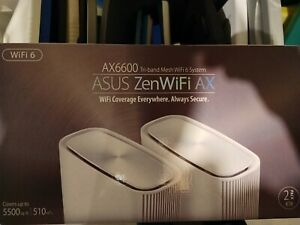 ASUS ZenWiFi XT8 Tri-Band Mesh Wi-Fi 6 System - White (Set of 2)