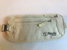 Boxiki travel Money Belt RFID Blocking Money Belt Safe Waist Bag Secure Belt