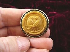 (cs7-5) antiqued ivory DOVES bird CAMEO Pin Jewelry brooch PENDANT necklace