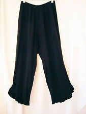 IN HARMONY Art to Wear! Designer Pants Black With bottom ruffles S