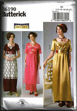BUTTERICK 6190 OOP Misses Georgian Downton Abbey Titanic Costume Sewing Pattern