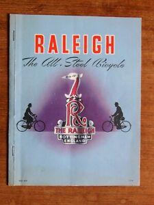 Vintage 1950s Raleigh Bicycle Sales Brochure