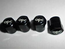 Ventilkappen Alu black mit Logo passend für Opel OPC 4 Stück
