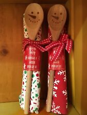 North Pole Bakery Silicone Spatula Wooden Spoon & Towel set CHRISTMAS GIFT