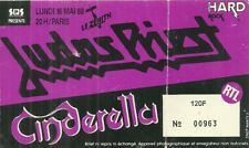 RARE / TICKET BILLET DE CONCERT - JUDAS PRIEST : LIVE A PARIS ( FRANCE) 1988