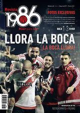 "BOCA JUNIORS 1 vs RIVER PLATE 3 - Rare ""1986"" Magazine Argentina May 2017"