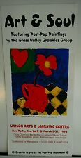 Serigraph silk screen POSTER Flower Heart 1990's POST POP Kline Gold de Kooning