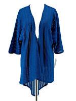 LuLaRoe Women's Blue Knit 3/4 Sleeve Lindsay Cardigan Sweater Size Small NEW