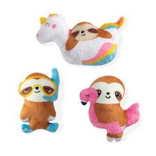 Fringe Studio Minis Summer Sloths 3-Piece Plush Dog Toy Set
