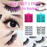 3D 5 Pairs False Eyelashes Flat Wispy Cross Long Thick Soft False Eye Lashes LZX