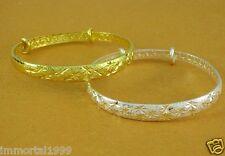 Bracelet jonc rigide ajustable couleur Argent ou Or