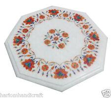 """30""""x30"""" Marble Coffee Mosaic Table Top Rare Hakik Gem Marquetry Home Decor H964A"""