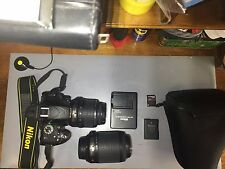 Nikon D5100 DSLR Camera with DX 18-55mm1:3.5-5.6G and DX 55 - 200mm 1:4-5.6 Lens