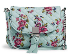 Vera Bradley RFID Carson Mini Crossbody Purse Bag WATER BOUQUET Mint 23015 $65
