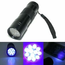 3x UV Ultra Violet Blacklight 12 LED Flashlight Torch Lamp Light Leak Detection
