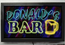 LED LIGHTED CUSTOM BAR SIGN PERSONALIZED NEON STYLE DISPLAY