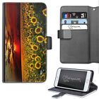 Sunflower Field Phone Case, PU Leather Wallet Flip Case, Cover For Samsung/Apple