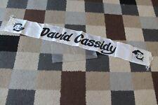 More details for david cassidy satin scarf fringed banner vintage rare 70's pop music concert