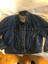 VTG WRANGLER Denim Blue Jean Western Jacket USA MADE DISTRESS L/XL For Women