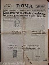 ROMA DEL LUNEDI 26 settembre 1955 Eisenhower Inter Jeppson Delitto Domiziana e
