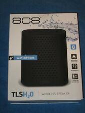 808 Audio SP460BK TLS H2O IP67 Waterproof Bluetooth Speaker, Black, New!