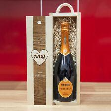 Personalised Wooden Wine Box for Valentines, Anniversay, etc. 'Happy Valentines'