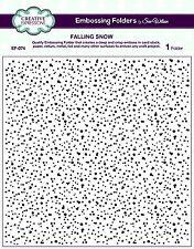 "CREATIVE EXPRESSIONS 8X8"" Embossing Folder FALLING SNOW Sue Wilson EF-074"