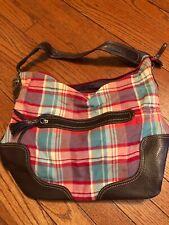 Tommy Hilfiger Red & Blue Plaid Handbag Tote Purse Bag