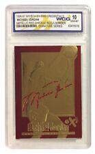 """MICHAEL JORDAN AUTOGRAPHED EX-2000 """"RARE"""" RED BORDER WCG GEMMT 10 23KT GOLD CARD"""